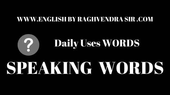 Daily Uses WORDS