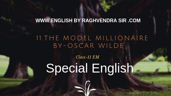 The Model Millionaire by Oscar Wilde