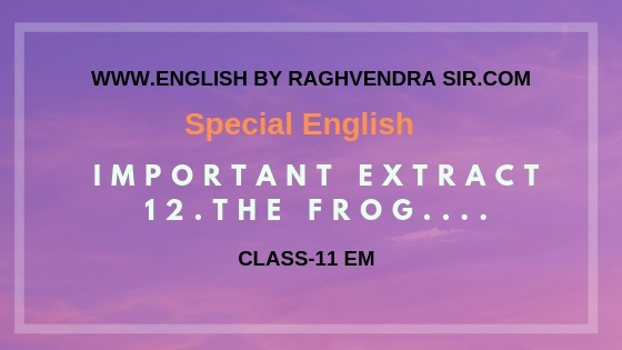 important extract the Frog