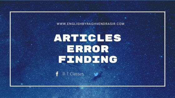 Articles errors finding
